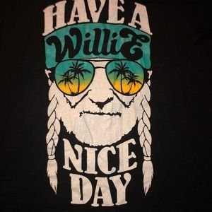 Willie Nelson T-Shirt 95% rayon